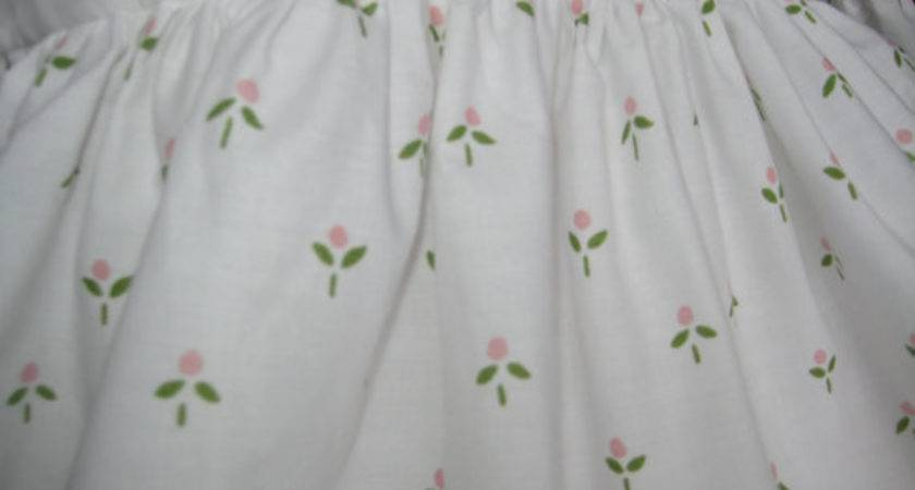 Vintage Laura Ashley Twin Bedskirt Harebell Sprig Castleberry