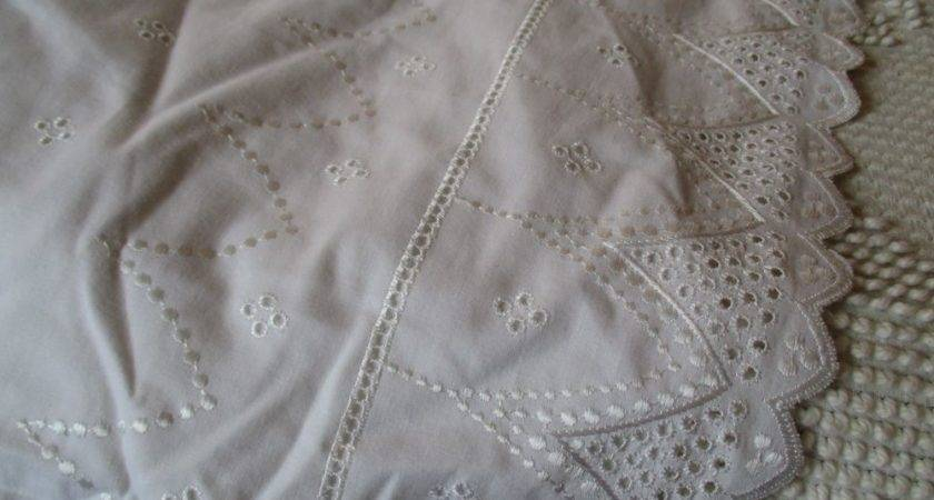 Vintage Laura Ashley Twin Lace Bed Skirt Bedding Shabby