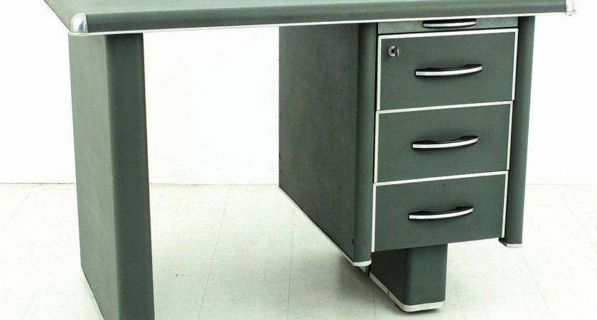 Vintage Metal Desk Sale Pamono
