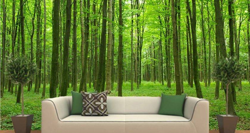 Wall Art Design Ideas Peel Stick Forest