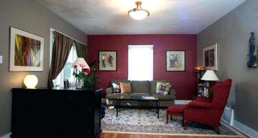 Wall Decor Cool Red Taupe Living Room Ideas Painted