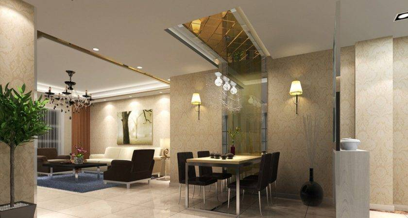 Wall Design Dining Living Room House