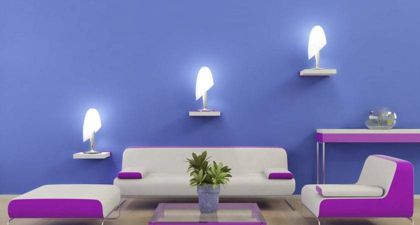Wall Design Hall Inside Home Blue Color Combo
