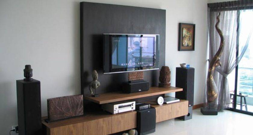 Wall Ideas Black Wooden Panel