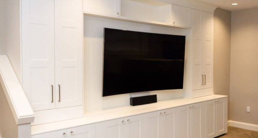 Wall Units Outstanding Media Room Built Cabinets