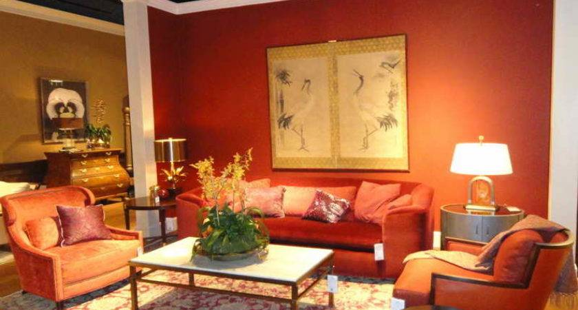 Warm Colors Living Room Ideas Red Wall Home