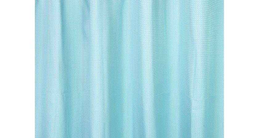 Watershed Park Smith Waffle Weave Fabric Shower Curtain