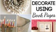 Ways Decorate Using Book Pages Blissfully Domestic