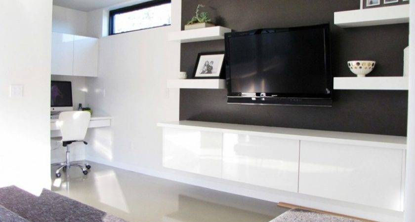 Ways Incorporate Wall Mounted Tvs Shelves Into
