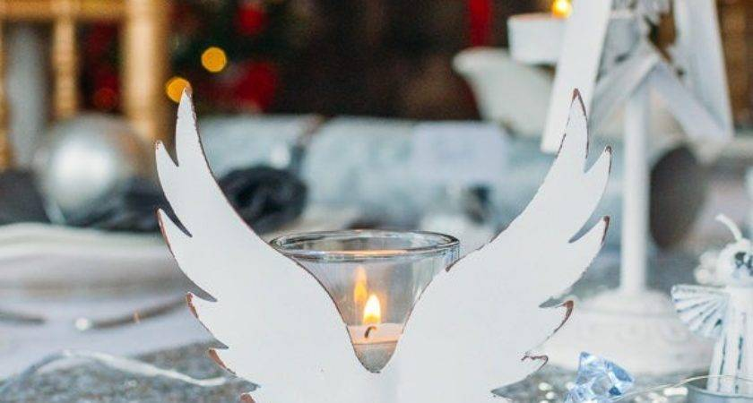 White Angels Christmas Table Decorations Set Styleboxe