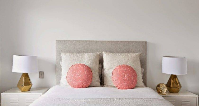 White Bedroom Design Peach Gold Accents Girls