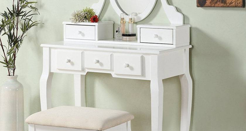 White Bedroom Vanities Inspiration Ideas