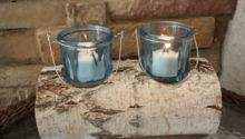 White Birch Log Candle Holder Perfect Craftsbymerle