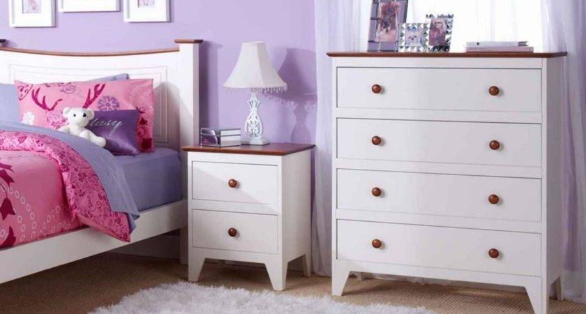White Cabinet Drawers Girls Bedroom Furniture