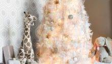 White Christmas Tree Decorating Ideas Easy Crafts