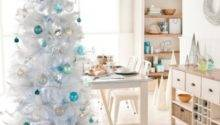 White Christmas Tree Ideas Blue Decorations