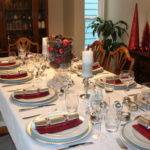 White Gold Christmas Table Decorations