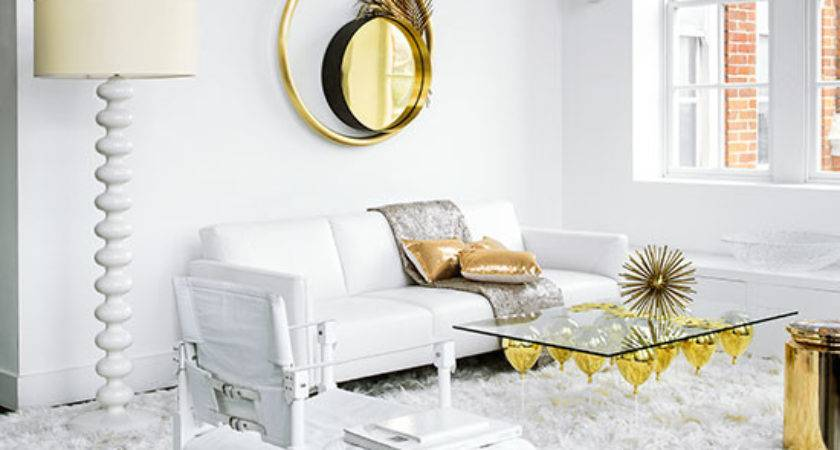 White Gold Living Room Decorating Ideal Home