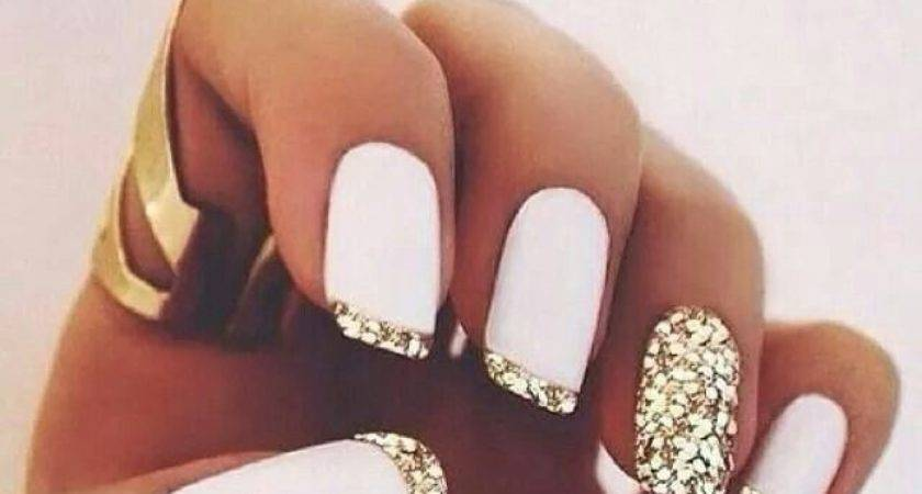 White Gold Nail Designs Simple But Powerful Combo