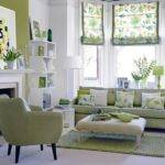 White Green Living Room There Place Like Home