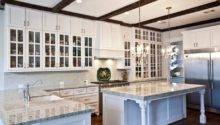 White Kitchen Island Traditional