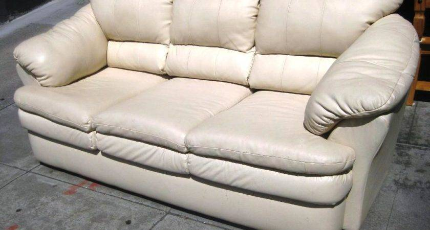 White Leather Sofa Interior Design Home