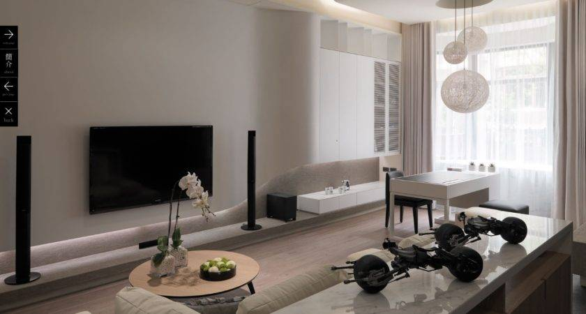 White Modern Living Room Interior Design Ideas