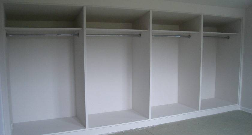 White Painted Mdf Built Wardrobes Frame Panel