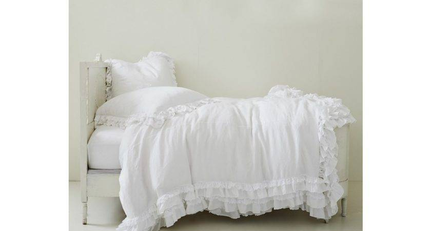 White Shabby Chic Bedding Home