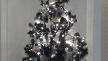 White Silver Christmas Tree Just Decorate