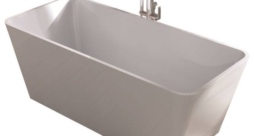 White Stand Alone Resin Bathtub Bathtubs Adm