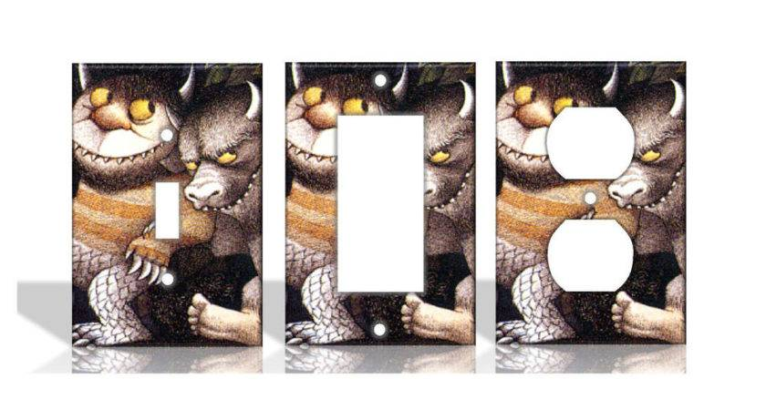 Wild Things Light Switch Covers Home Decor