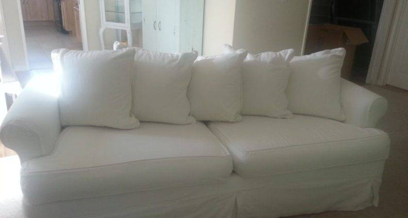 Wonderful White Slipcovered Sofa Shabby Chic Los