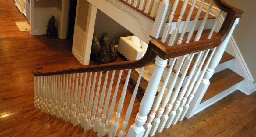 Wood Stairs Rails Iron Balusters May
