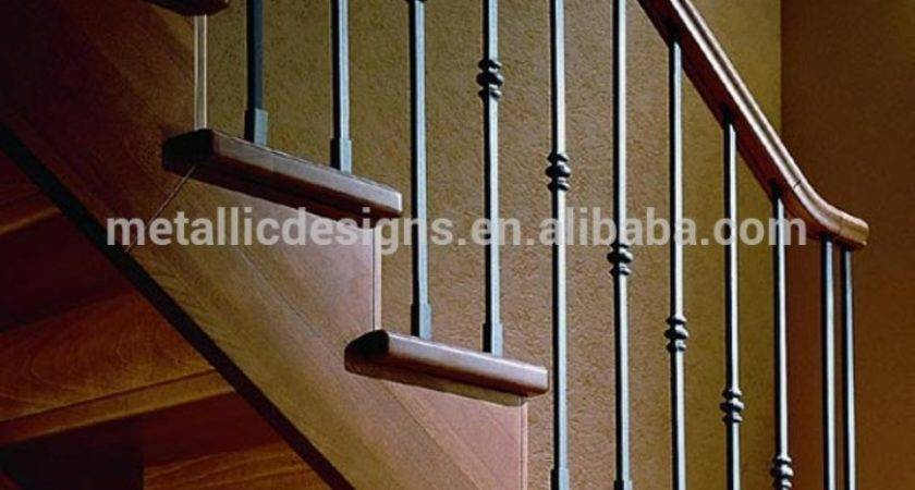 Wood Stairs Wrought Iron Railings More Decor