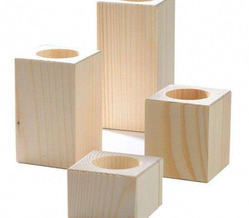 Wooden Candle Holders Various Sizes Homecrafts
