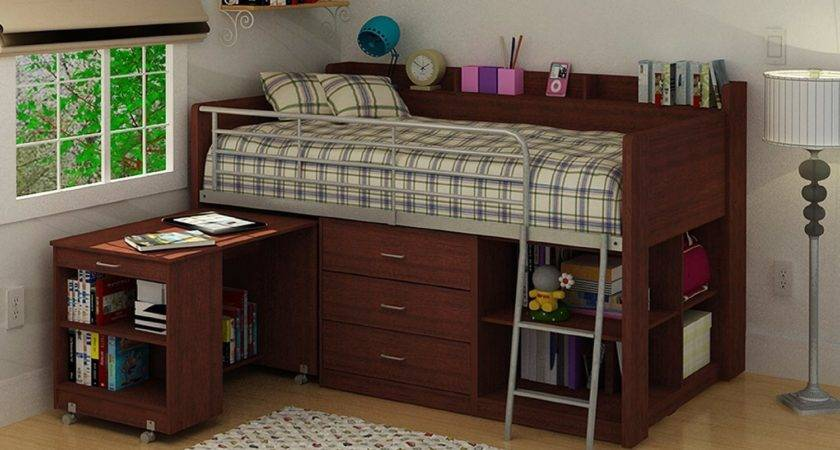 Wooden Loft Bed Desk Most Recommended Space