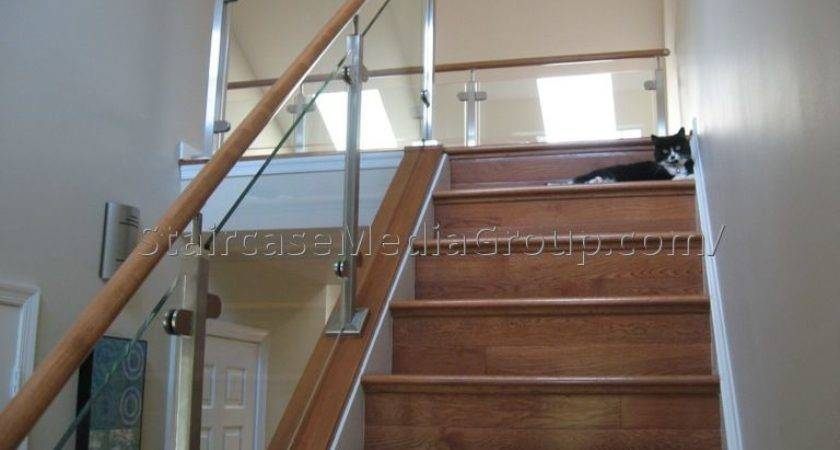Wooden Staircase Glass Railing Best Ideas