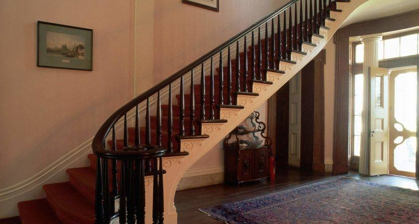 Wooden Staircase Railing New Home Plans Interior Decors