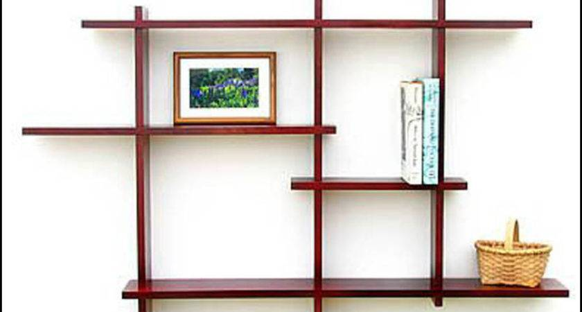 Wooden Wall Rack Designs Shelves