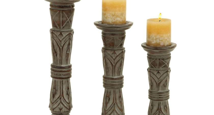 Woodland Imports Wooden Candle Holder Reviews Wayfair