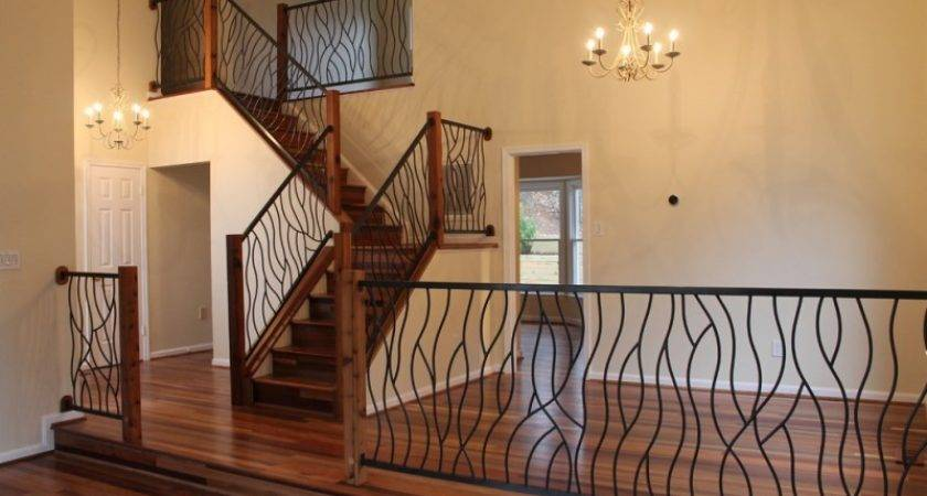 Wrought Iron Stair Railings Stunning Interior