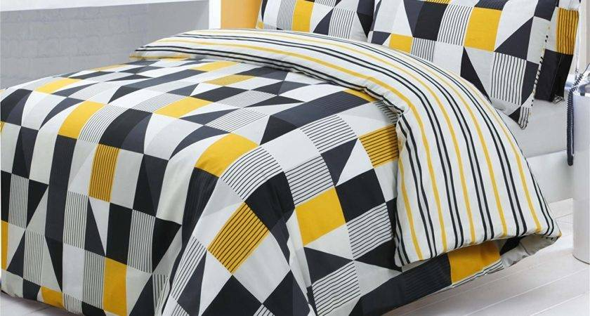 Yellow Black Bedding Ease Style