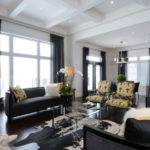 Yellow Black Living Room Contemporary