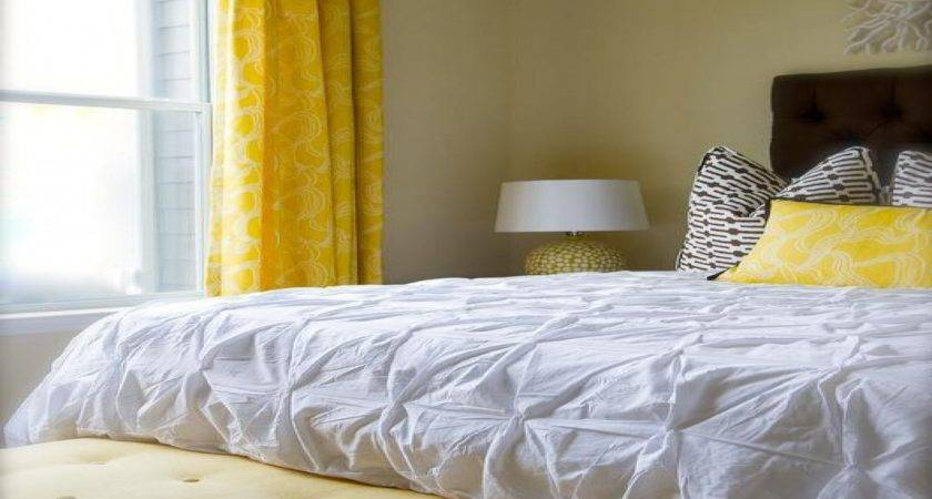 Yellow Brown Bedroom Contemporary Olive Interiors Designs