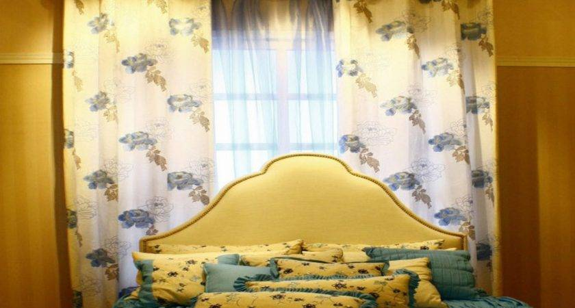 Yellow Curtains Bedroom Teal Blue