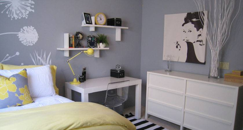 Yellow Gray Bedroom Design Ideas