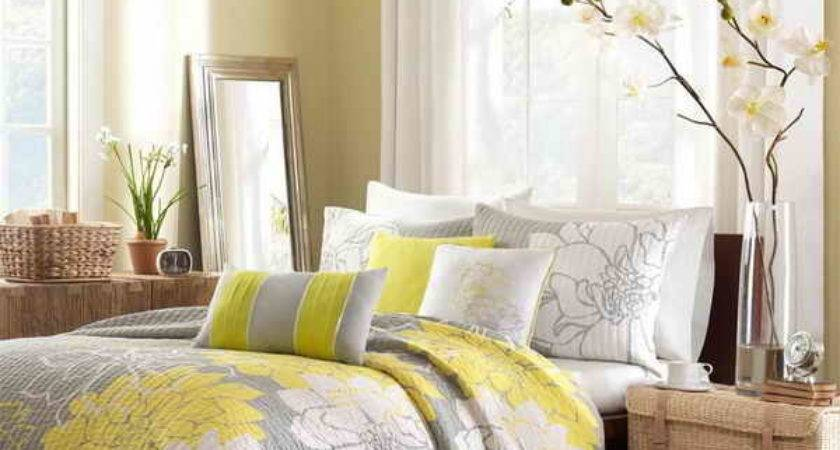 Yellow Gray Bedroom Ideas Vissbiz