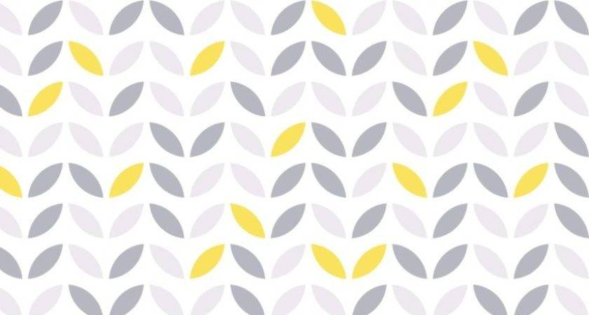 Yellow Grey Abstract Flower Pattern Murals