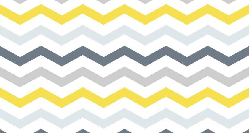 Yellow Grey Chevron Murals